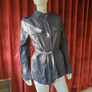 Sanctuary Navy Military Belted Jacket Size M